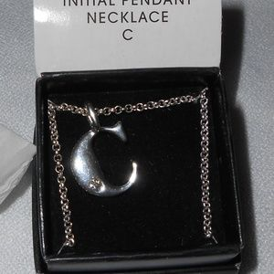 "NIB Initial Pendant Necklace - ""C"""